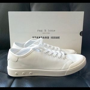 Rag & bone lace up white sneakers